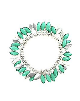 Pastel Coloured V Shaped Bracelet