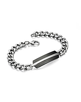 Black Pvd Shaped Id Bracelet