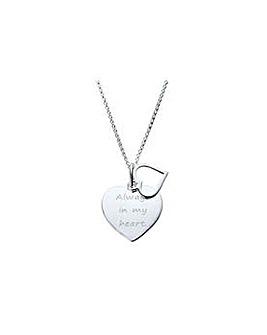Sterling Silver Heart Love Pendant