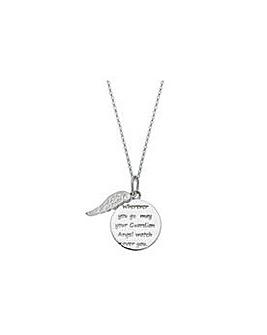 St/Silver Guardian Angel Pendant