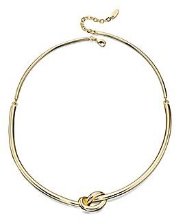 Gold Knot Choker Necklace