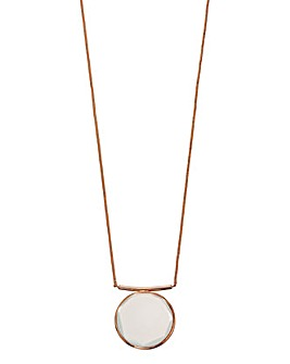 Rose Gold Plate Stone Necklace