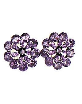 Diamante Flower Earring