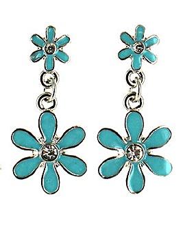 Flower Drop Earring