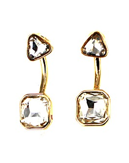 Double Glass Stone Earring