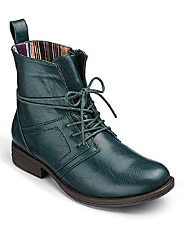 Heavenly Soles Lace Up Ankle Boots D Fit