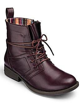 Heavenly Soles Lace Up Ankle Boots D Fit