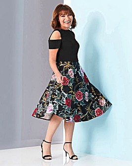 Lorraine Kelly Cold Shoulder Fit & Flare
