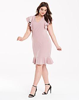Closet Ruffle Detail Dress