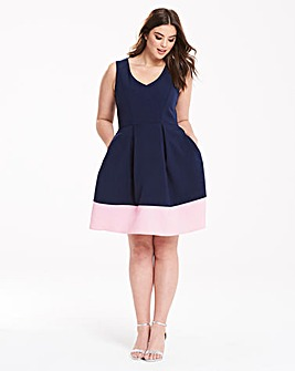 Closet Contrast Hem Dress