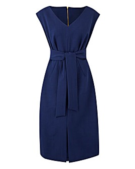 Closet V Neck Tie Waist Dress