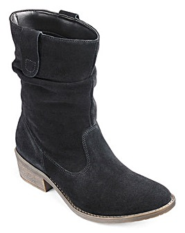 Heavenly Soles Suede Boots E Fit