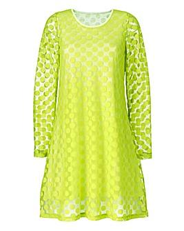 Spot Jacquard Lace Swing Dress