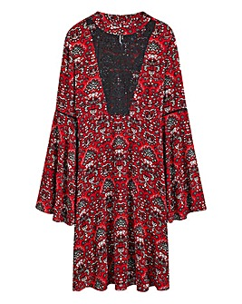 Lace Yoke Babydoll Dress