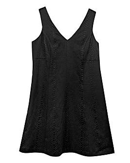 Textured Pleat Skater Dress