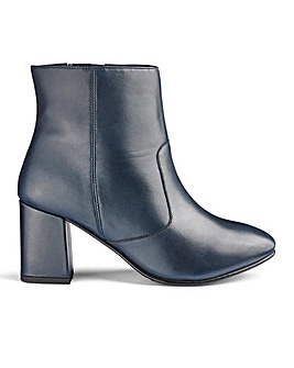 Heavenly Soles Leather Ankle Boots E Fit