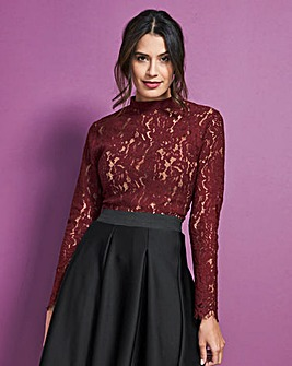 Cherry Corded Lace Blouse