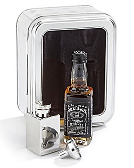 Jack Daniels Whiskey & Hip Flask Tin Set