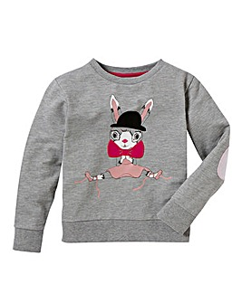 KD MINI Girls Bunny Sweatshirt (2-7 year