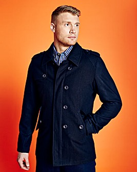 Flintoff By Jacamo Double Breasted Coat