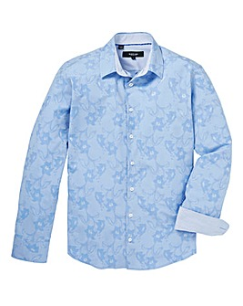 Black Label Floral Jacquard Shirt Reg