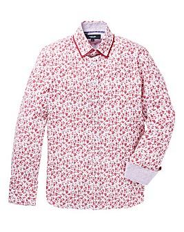 Black Label Floral Print Shirt Regular
