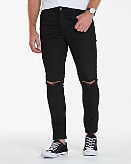 Label J Rip Knee Skinny Jeans 29in Leg