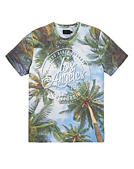 Label J LA Palm Print Tee Long