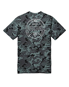 Label J Camo Print on Back Tee Long