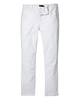 Label J Skinny Jean White Regular
