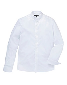 Black Label Textured Grandad Shirt