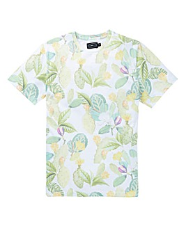 Label J Succulent Print Tee Long