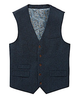 Black Label Tweed Waistcoat Regular