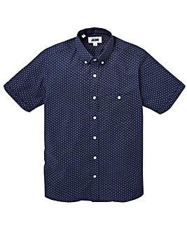 Jacamo S/S Greaves Printed Shirt Reg