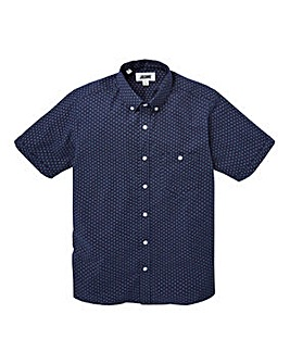 Jacamo S/S Greaves Printed Shirt Long