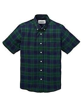 Jacamo Colter S/S Check Shirt Long