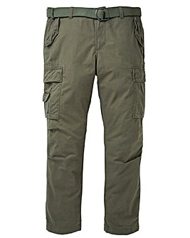 Jacamo Khaki Ambrose Cargo Pant 29in