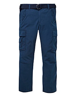 Jacamo Navy Ambrose Cargo Pant 31in