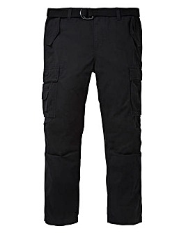 Jacamo Black Ambrose Cargo Pant 33in