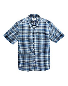 Jacamo Fletcher S/S Check Shirt Long