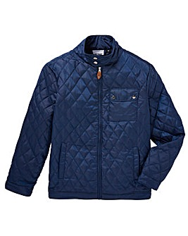 Jacamo Navy Beattie Quilted Jacket Long