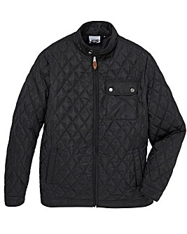 Jacamo Black Beattie Quilted Jacket Long