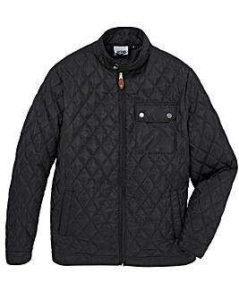 Jacamo Black Beattie Quilted Jacket Long