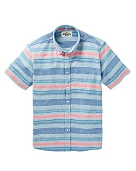 Jacamo Albert S/S Stripe Shirt Long