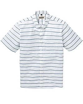 Jacamo Barrett S/S Stripe Shirt Long