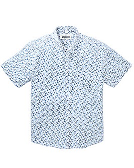 Jacamo Trent S/S Printed Shirt Regular