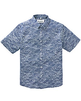 Jacamo Fandango S/S Printed Shirt Long