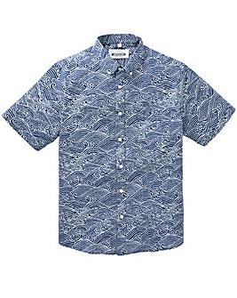 Jacamo Fandango S/S Printed Shirt Reg
