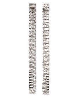 Long Rhinestone Earrings
