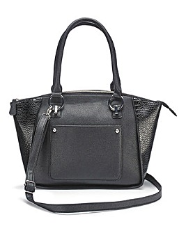 Black Emily Winged Tote Bag